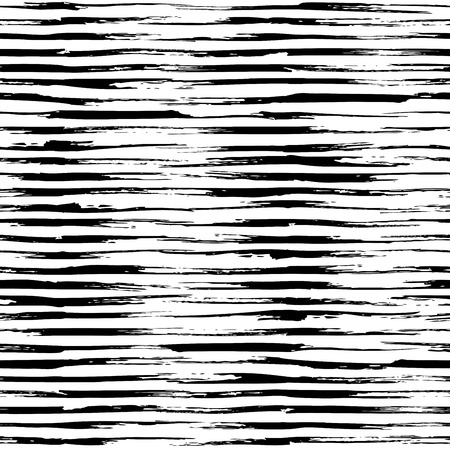repeat texture: Vector seamless pattern of horizontal brush strokes. Hand-drawn brush flourishes. Black and white grunge texture. Boundless background can be used for web page backgrounds, wallpapers and invitations.