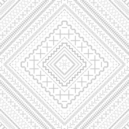 boundless: Vector high detailed stitches. Ethnic boundless texture. Can be used for web page backgrounds, wallpapers, wrapping papers and invitations.