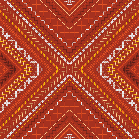ethno: High detailed stitches. Ethnic boundless texture. Can be used for web page backgrounds, wallpapers, wrapping papers and invitations.