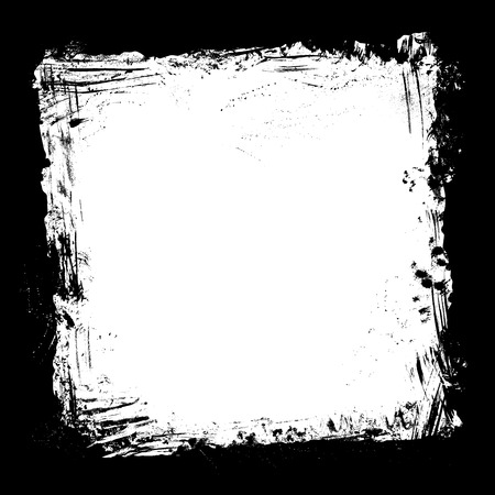Square frame of hand-drawn ink stains, flourishes and blots. There is place for your text on white area.