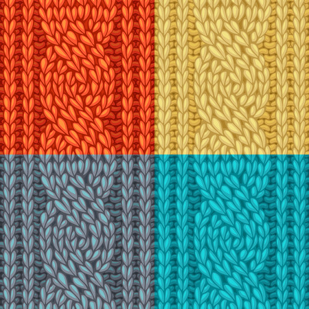 boundless: Seamless knitting pattern. Vector left-twisting rope cable (C6F) seamless pattern. Vector knitting texture. Boundless background can be used for web page backgrounds. Illustration