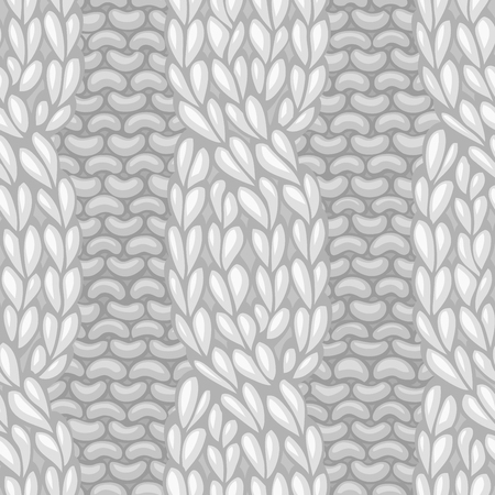 Seamless knitting pattern. Cable twisting to the left knitting texture. C4F. Vector high detailed stitches. Boundless background can be used for web page backgrounds, wallpapers, wrapping papers and invitations.