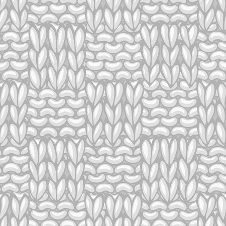 boundless: Seamless knitting pattern. Vector high detailed stitches. Boundless background can be used for web page backgrounds, wallpapers, wrapping papers and invitations. Illustration