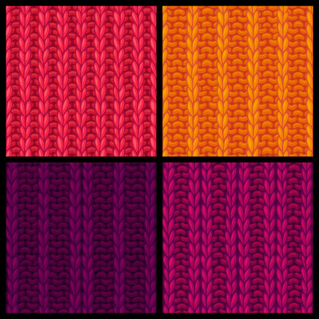 double page: Seamless knitting pattern. Ribbing Stitch. Double Ribbing Stitch. Vector knitting textures. Boundless background can be used for web page backgrounds, wallpapers and invitations.