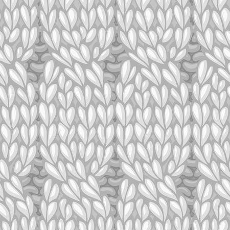 Vector naadloos gebreid patroon. Vier steek kabels, draaien naar links. C4F. Vector breien textuur. Hoge gedetailleerde steken. Grenzeloze achtergrond kan worden gebruikt voor Web-pagina achtergronden en wallpapers Stock Illustratie