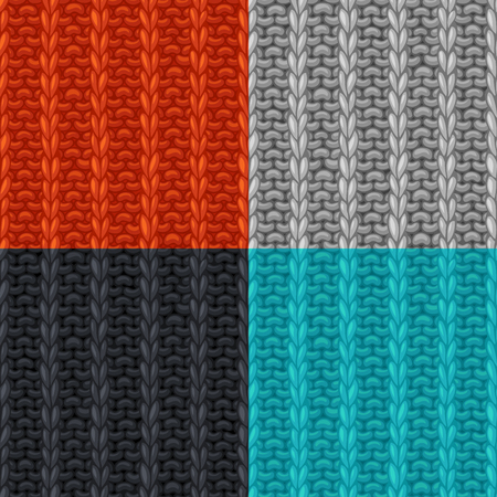 purl: Vector seamless knitted pattern. Rib Stitch texture. High detailed stitches. Boundless background can be used for web page backgrounds, wallpapers, wrapping papers, invitations. Illustration