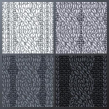 Vector senza soluzione di continuità modello di maglia. Twisting ai cavi di sinistra. cavi corda. punti di vettore in bianco e nero. sfondo senza confini può essere utilizzato per gli sfondi delle pagine web e inviti.