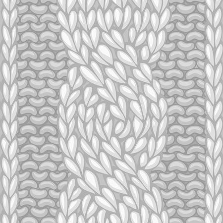 sueter: puntada cable de seis puntada. Vector dejó de torsión de cable de cuerda (C6F) patrón transparente. Vector de tejer textura. de fondo sin límites se puede utilizar para fondos de páginas web. Vectores