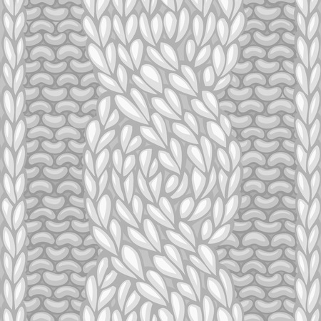 knit: Six-Stitch cable stitch. Vector left-twisting rope cable (C6F) seamless pattern. Vector knitting texture. Boundless background can be used for web page backgrounds. Illustration