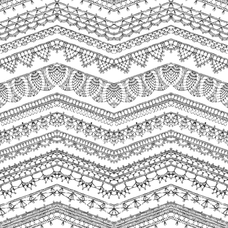 Vector Lacy Crochet Doily Sketch Round Patterns Knitted Crochet