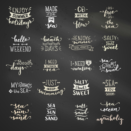 Unique calligraphic quotes and phrases written by brush on dark blackboard background. Ready-to-use prints.