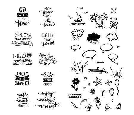 Citations et phrases calligraphiques uniques écrites au pinceau.