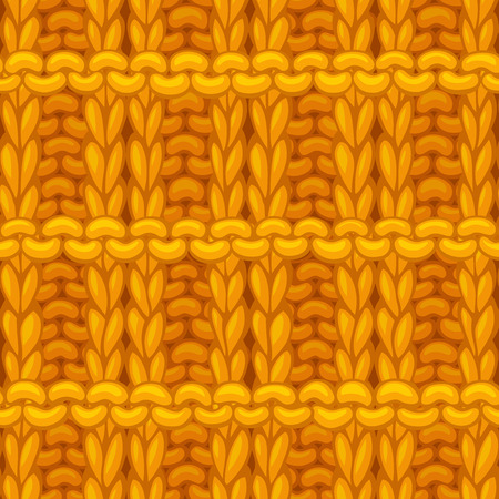 Hand-drawn yellow cotton cloth boundless background. High detailed woolen hand-knitted fabric material.