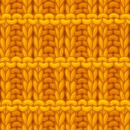 Ręcznie rysowane żółte tkaniny bawełniane bezgraniczne tło. Wełniany, ręcznie tkany materiał o wysokiej szczegółowości.