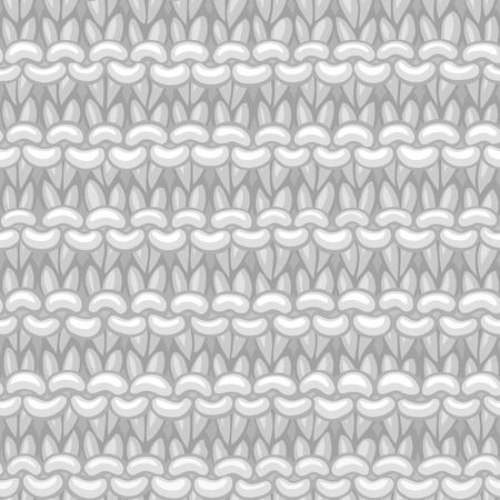 Ð¡otton white hand-knitted fabric material. High detailed knitting boundless background. Hand-drawn woolen knitwear. Illusztráció