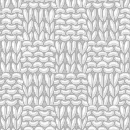 Seamless Basket Stitch. Hand-drawn jersey cloth boundless background. High detailed woolen hand-knitted fabric material.