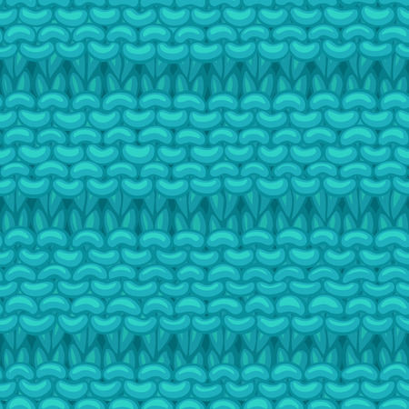 Hand-drawn jersey cloth boundless background. High detailed blue cotton hand-knitted fabric material.