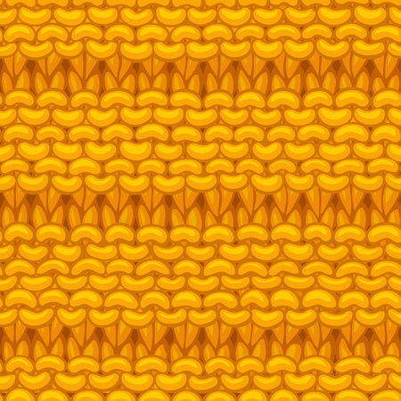 Hand-drawn jersey cloth boundless background. High detailed yellow woollen hand-knitted fabric material.