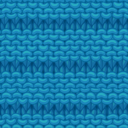 Hand-drawn blue cotton cloth boundless background. High detailed jersey hand-knitted fabric material.