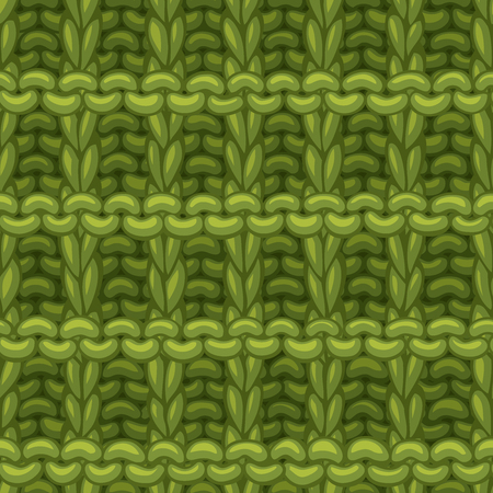 Hand-drawn green cotton cloth boundless background. High detailed woollen hand-knitted fabric material.