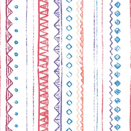 Scandinavian boundless background. Vector hand-drawn illustration. Stock Illustratie