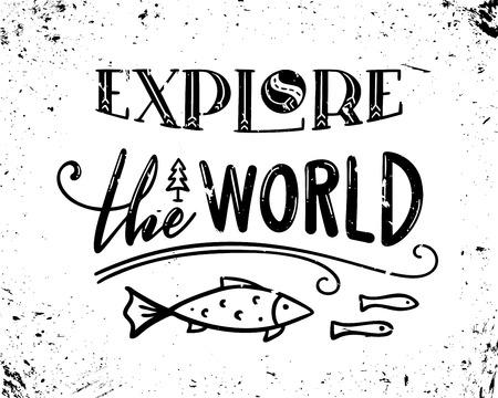 Einzigartiges handgezeichnetes Zitat. Vektor-Grunge-Schriftzug. Gebrauchsfertige Drucke für Poster, Tassen, Banner, Taschen, Karten oder T-Shirts.