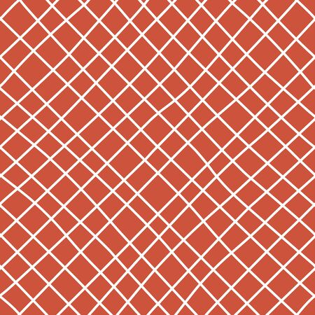 Checkered hand drawn seamless pattern. Irregular diagonal lines doodle drawing. Thin freehand line art. Monocolor texture.