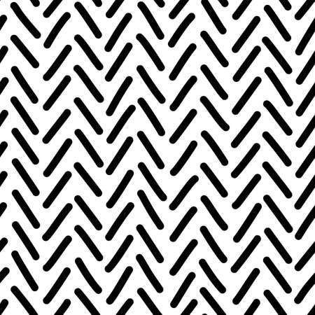 Vector tweed seamless pattern. Looks like an irregular zigzag lines handdrawn texture. Ink pen freehand crankles line art. Fabric, textile, wrapping paper, wallpaper minimalistic design
