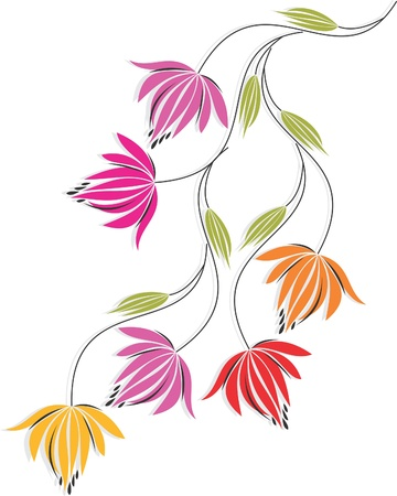 flowers are a part of beautiful nature Stock Vector - 13782733