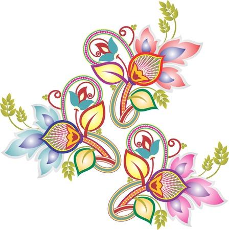 picture postcards: paisley design Illustration