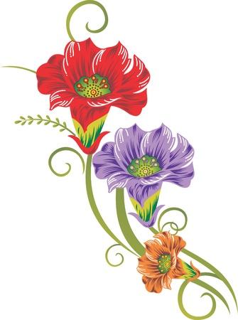 disegni cachemire: Fiore arte Vettoriali