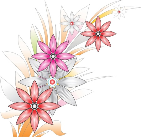 Flower fancy bunch Stock Vector - 14342591