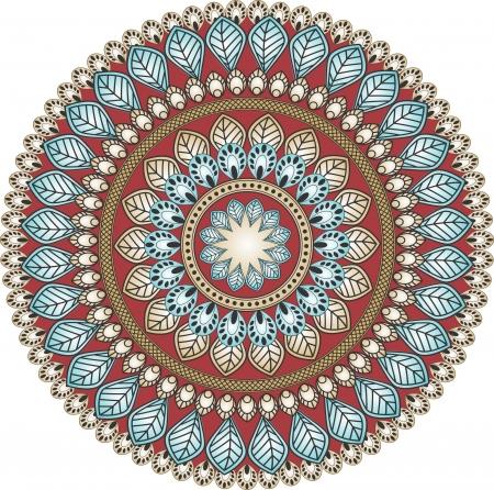Paisley circle Vector