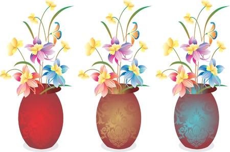Vector flower vase Vector