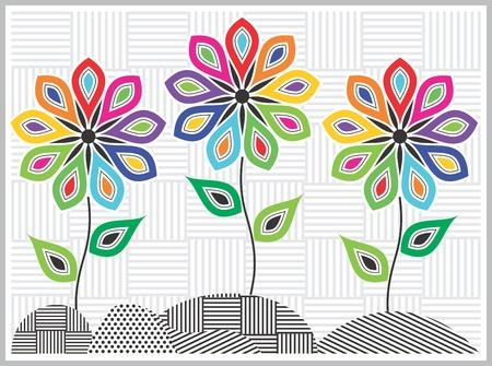 Artistic flower concept Illustration