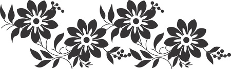 Fancy flower border Vector