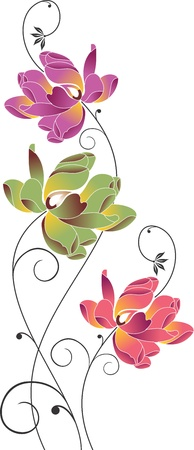 borde de flores: Ramo de flores creativa