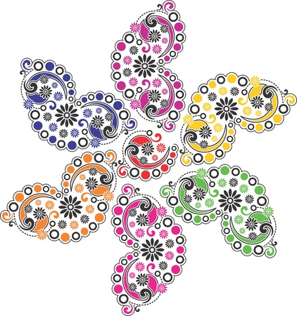 Paisley flower Vector
