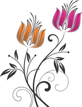fashion design:  floral design element