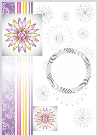 greetings card design Vector