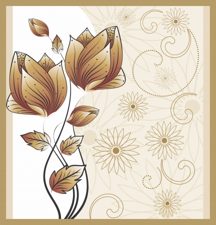fashion design: greetings card concept Illustration