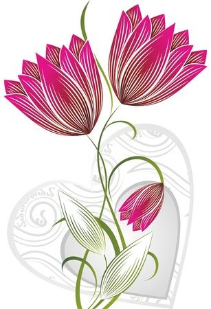 flor con el corazón