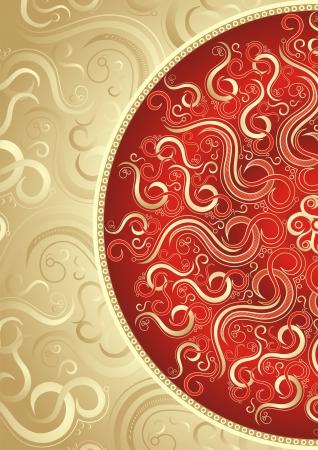 floral paisley: Vector invitation card design
