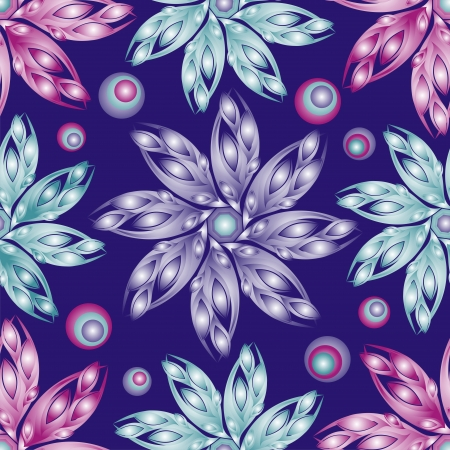 textiles: Seamless flower background Illustration