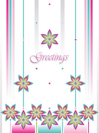 vector greeting card: Vector greeting card Illustration