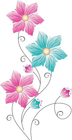 Flower design on white background Stock Vector - 15194463