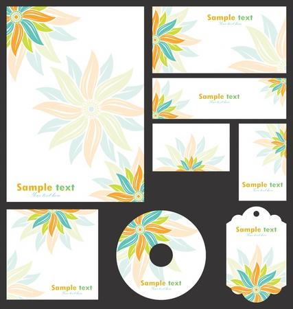 brand name: Business design template Illustration