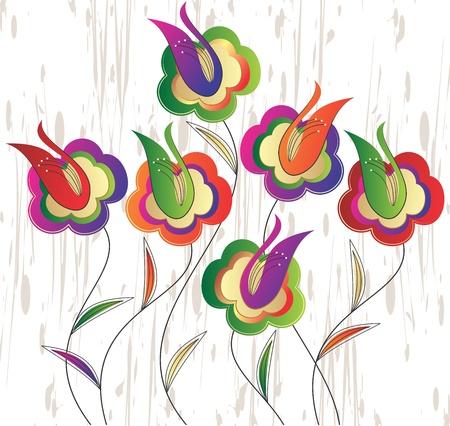 Vector fancy flowers Stock Vector - 14958650