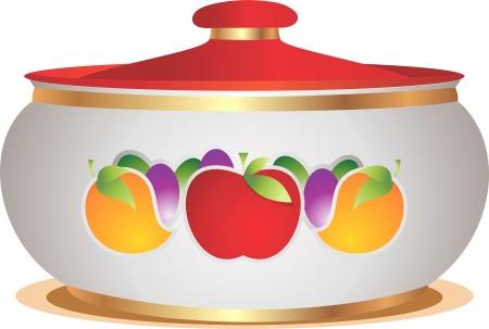 Domestic pot Stock Vector - 14985052
