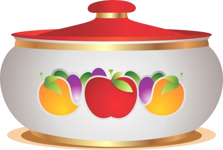 golden pot: Domestic pot